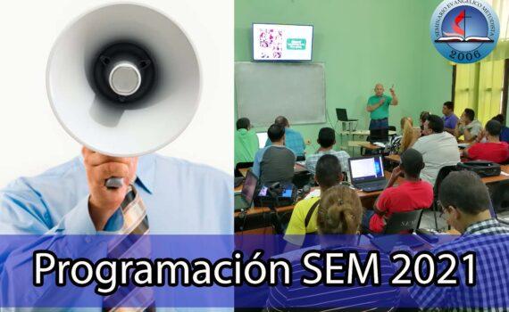 Programación de módulos del SEM. 2021